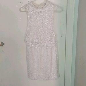 Sequin white dress